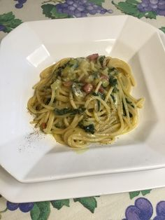 Pancetta, Spaghetti, Food And Drink, Ethnic Recipes, Anna, Spring, Diet, Pies, Noodle