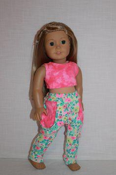 18 inch doll clothes floral print Harem dance by UpbeatPetites