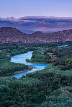 Boquillas Canyon Trail Overlooking the Rio Grande and Chisos Mountain Range, Big Bend Texas (Photographed by Jennifer Prince)
