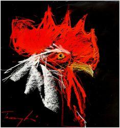 Dezső , Pasztell , papír  15 x 15 cm