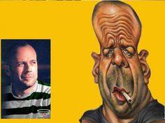 Bruce Willis Karikatur Zeichnung