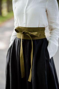 Mode Outfits, Fashion Outfits, Stylish Outfits, Pretty Outfits, Obi Belt, Corset Belt, Ribbon Belt, Look Fashion, Fashion Design