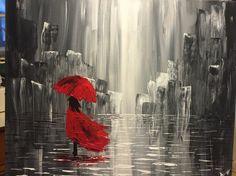 Rainy city by yours truly #art #paint #lumiza #city #abstract #asheville