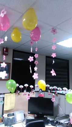 Decoracion de oficina para cumplea os de adultos con for Decoracion oficina creativa