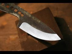 How to Hollow Grind a Knife using Homemade Hollow Grind Jig - YouTube