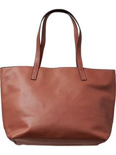 Women's Large Textured Faux-Leather Totes Product Image