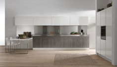 Brera doorstyle finished in Woody Grigio Torba + Monolaccato Bianco Calce  http://archinteriors.co.nz