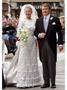 Princess Mabel and Prince Friso on their wedding day, 2004.
