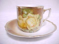 Antique German Demi Cup and Saucer