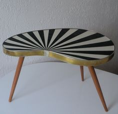 1950s Kidney Shaped Table Nieisch