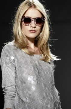 Designer Rachel Zoe is seen backstage before her spring 2013 collection is shown at Fashion Week,  Wednesday, Sept. 12, 2012,  in New York. (Photo by Diane Bondareff/Invision/AP)