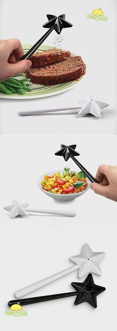 These would be cute for a fairy or princes party where they could sprinkle their cup cakes with spinkles.  [Cool kitchenware] Seasoning wand