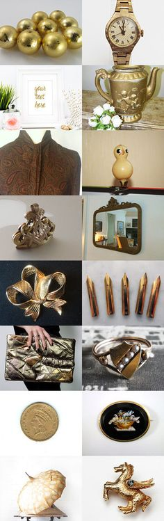 Gold Vintage by Elinor Levin on Etsy--Pinned with TreasuryPin.com