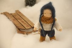 6 Waldorf-inspired pocket doll Wee-Bee Mini door ScarletElfcup