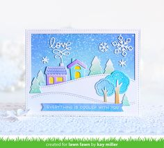 Kay created the most gorgeous winter scene card using mostly dies with just a stamped sentiment! She combined die cuts from both of our St...