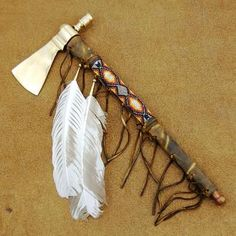 Native American Smokable Ceremonial Peace Pipe Lakota Sioux Tomahawk Peace Pipe Native Craft Indian Artifact http://www.nativeamericanstuff.net/WholeSale%20American%20Indian%20%20Peace%20Pipes.htm