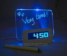 Encontre mais Despertador Informações sobre 2015 novo LED luminoso Message Board Digital Despertador com calendário Luminova Despertador LED relógio XDA0913, de alta qualidade Despertador de Wholesale Lowest Price Gerry's Store em Aliexpress.com