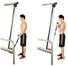 3*12Cable Rope Biceps Curl