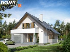 Garage Display Design Solutions for Small Homes Modern Family House, Modern Bungalow House, Modern House Design, Building A Garage, Arch House, Loft Room, Backyard Garden Design, Villa Design, Design Case