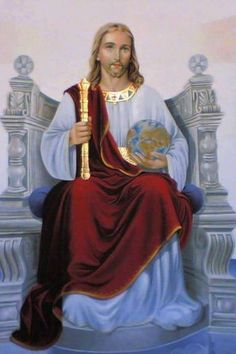 The Solemnity of Our Lord Jesus Christ, King of the Universe – the last Sunday of the Liturgical Year Jesus Our Savior, Jesus Art, King Jesus, Jesus Is Lord, Pictures Of Jesus Christ, Religious Pictures, Religious Icons, Religious Tattoos, Jesus Christus