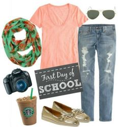 1st Day of School outfit for Moms!! www.momgenerations.com/2014/08/mom-style-monday-back-to-school-outfit-for-mom-momstyle/ #Momstyle