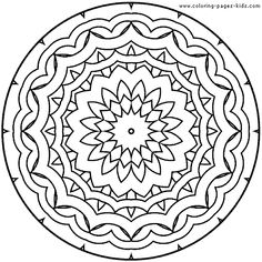 center yourself with mandalas, coloring pages