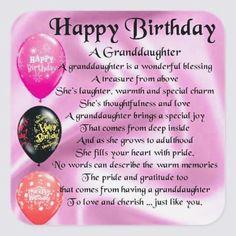 48 Happy Birthday Granddaughter Ideas Birthday Quotes Happy Birthday Happy Birthday Granddaughter