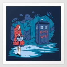 Big Bad Wolf Art Print by Matthew J Parsons - $18.00