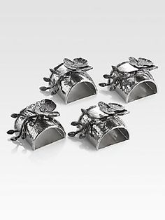 Michael Aram Black Orchid Napkin Rings, Set Of 4