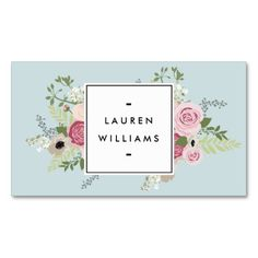Antique Blue Vintage Floral Business Card Template for Cosmetologists, Nail Salons, Makeup Artists, Beauty Salons, Stylists, Crafters and more. Fully customizable.