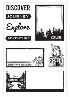 Kaisercraft Outdoor Trail Stamp