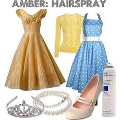 """Amber: Hairspray"" by femmeenviolet on Polyvore"