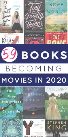 Love book to movie adaptions? This list is your guide for news and information on all the books becoming movies & tv shows in Love book to movie adaptions? This list is your guide for news and information on all the books becoming movies & tv shows in Best Books To Read, Ya Books, I Love Books, Book To Read, Free Books, Comic Books, Book Suggestions, Book Recommendations, Movies Quotes