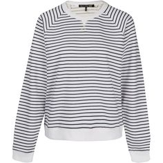 Rag and Bone Jean Navy Jean Stripe Raglan Sweatshirt (295 BRL) ❤ liked on Polyvore featuring tops, hoodies, sweatshirts, navy top, raglan sweatshirt, navy sweatshirt, low top and stitched jerseys