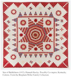 Some day, I'll be brave enough to make one of these.  What a beauty this antique quilt is!
