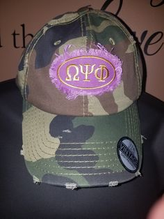 51a77accf2734 Omega Psi Phi distressed hat by 6thFlrBasementDesign on Etsy Cap