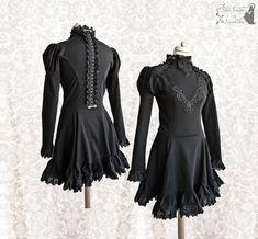 Black dress Victorian mourning inspired por SomniaRomantica en Etsy