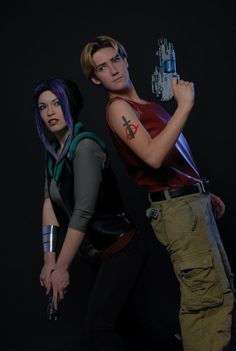 Animation Movie: Titan A.E. Characters: Cale & Akima. Cosplayers: Giulia Presti & Veronica Ceccerini. Photo: Sandro Sebastiani 2012.