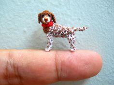Miniature Pointer Dog Tiny Crochet Dog Stuffed Animals Made To Order Pointer Dog Miniature Dogs Tiny Dolls