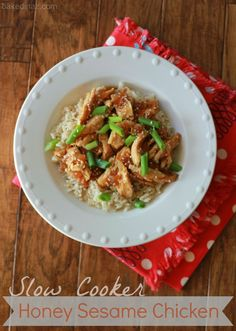 Baked in Arizona: Slow Cooker Honey Sesame Chicken