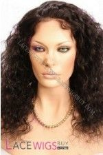 "14"" Curly #1B Full Lace Wigs 100% Indian Remy Human Hair"