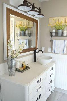 Beautiful farmhouse bathroom remodel decor ideas (39)