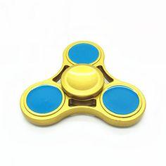 Zinc Rotating Tri Fidget Hand Spinner ADHD Autism Fingertips Fingers Gyro Reduce Stress //Price: $5.89 & FREE Shipping //     #fidget  #spinner