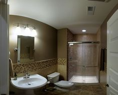 General Ideas: Tips To Clean A Fiberglass Shower, glass shower enclosures, painting fiberglass shower ~ Creatvow Open Showers, Small Showers, Tub To Shower Remodel, Shower Tub, Basement Remodeling, Remodeling Ideas, Bathroom Remodeling, Basement Ideas, Bathroom Ideas