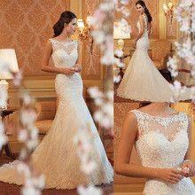 Lace Mermaid Wedding Dresses 2016 Floor- length Sexy Backless Sweetheart Bride Dress Plus Size vestido de noiva casamento