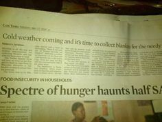 #CapeTimes 26 May 2014 #TwitterBlanketDrive #TBD2014 @TBDAfrica Weather, Blanket, Personalized Items, Twitter, Blankets, Weather Crafts, Cover, Comforters