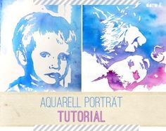 DIY watercolor portrait: so easy you can paint a beautiful portrait of your children! Source by doro_kaiser Watercolor Face, Watercolor Portraits, Watercolor Paintings, Let's Make Art, Diy Art, Web Paint, Easter Drawings, Kindergarten Art Projects, Watercolor Projects