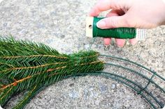 10 Ways to Get Your Home Ready for The Holidays- 10 Ways to Get Your Home Ready for The Holidays Handmade evergreen wreath - Christmas Wreaths To Make, How To Make Wreaths, Holiday Wreaths, Christmas Projects, Christmas Holidays, Christmas Decorations, Christmas Tree, Wreath Crafts, Diy Wreath
