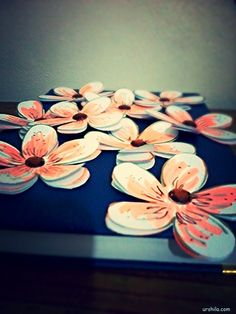 DIY fabulous layered floral templates. Suitable for gift adornments or card embellishments.