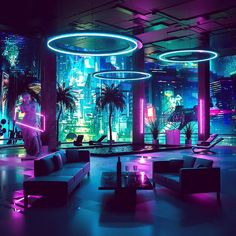 All Synthwave retro and retrowave style of arts - Synthwave Retrowave - room neon Cyberpunk Aesthetic, Neon Aesthetic, Aesthetic Rooms, Cyberpunk Rpg, Cyberpunk Fashion, Nightclub Design, Neon Room, Retro Waves, Luxury Houses